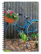 Bicycle Garden Spiral Notebook