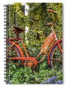 Bicycle In The Garden Spiral Notebook