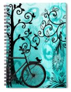 Bicycle In Whimsical Forest Spiral Notebook