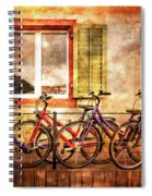 Bicycle Line-up Spiral Notebook
