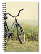 Bicycle On Beach Summer's On The Coast Spiral Notebook
