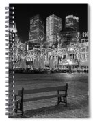Bicycle On The Plein At Night - The Hague  Spiral Notebook