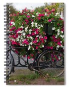 Bicycle Parked At The Bridge In Amsterdam Spiral Notebook