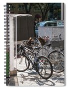 Bicycle Parking And Smoking Station In Tokyo Japan Spiral Notebook