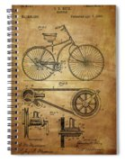 Bicycle Patent  Spiral Notebook