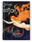 Bicycle Poster, C1905 Spiral Notebook