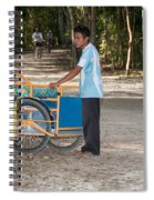 Bicycle Taxi Inside The Coba Ruins  Spiral Notebook