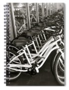 Bicycles In Belmont Shore Spiral Notebook