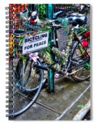 Bicycling For Peace Spiral Notebook