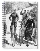 Bicyclist Meeting, 1884 Spiral Notebook