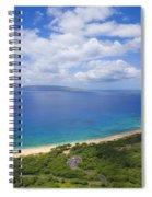 Big Beach Aerial Spiral Notebook