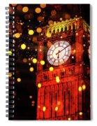 Big Ben Aglow Spiral Notebook