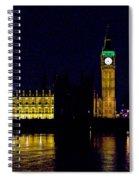 Big Ben Along The Thames Spiral Notebook