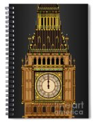 Big Ben Striking Midnight Spiral Notebook