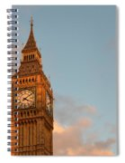 Big Ben Tower With Blue Sky And Some Clouds Spiral Notebook