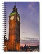 Big Ben Twilight In London Spiral Notebook