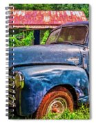 Big Blue Chevy At The Farm Spiral Notebook