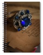 Big Blue Ornamented Ring Spiral Notebook