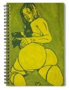 Sexy Green Woman  Spiral Notebook