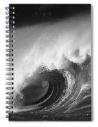 Big Breaking Wave - Bw Spiral Notebook