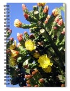 Big Cactus, Yellow Flowers Spiral Notebook