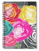 Big Colorful Roses 2- Art By Linda Woods Spiral Notebook