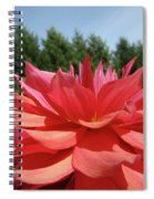 Big Dahlia Flower Blooming Summer Floral Art Prints Baslee Troutman Spiral Notebook