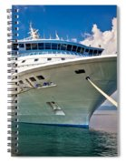 Big Docked Cruise Ship View Spiral Notebook
