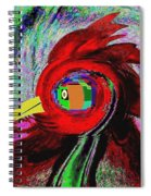 Big Fat Red Hen Spiral Notebook