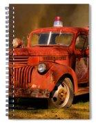 Big Fire - Old Fire Truck Spiral Notebook
