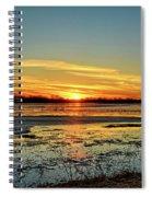 Big Marsh Sunset 2 Spiral Notebook