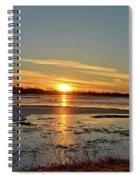 Big Marsh Sunset 4 Spiral Notebook