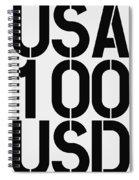 Big Money 100 Usd Spiral Notebook