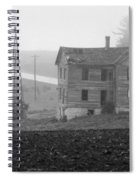 Big Old House In Fog - Bw Spiral Notebook