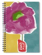 Big Purple Flower In A Small Vase- Art By Linda Woods Spiral Notebook
