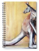 Big Red  Kangaroo Spiral Notebook