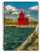 Big Red Lighthouse In Michigan Spiral Notebook