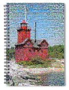 Big Red Photomosaic Spiral Notebook