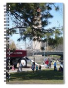 Big Red Wagon In Riverfront Park Spiral Notebook