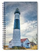 Big Sable Light On Lake Michigan Spiral Notebook