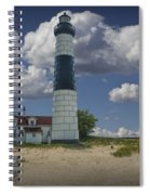 Big Sable Lighthouse Under Cloudy Blue Skies Spiral Notebook