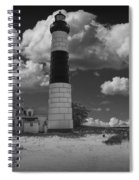 Big Sable Lighthouse Under Cloudy Skies Spiral Notebook