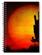 Big Saguaro Sunset Spiral Notebook