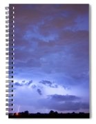 Big Sky With Small Lightning Strikes In The Distance Spiral Notebook