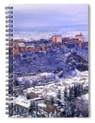Big Snow In The Alhambra Granada  Spiral Notebook
