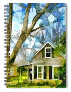 Big Tree Standing Tall In The Front Yard Spiral Notebook