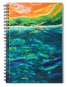 Big Tropical Wave Spiral Notebook