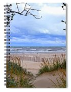 Big Waves On Lake Michigan 2.0 Spiral Notebook