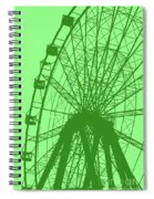 Big Wheel Green Spiral Notebook