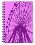 Big Wheel Purple Spiral Notebook